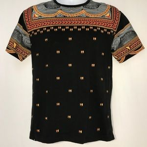 KITE Urban Street Gold Chains Tee Shirt size S